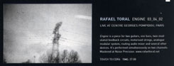 Rafael Toral - Engine: Live at the Pompidou Centre