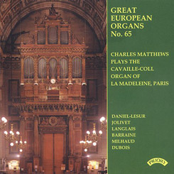 Charles Matthews - Great European Organs No. 65