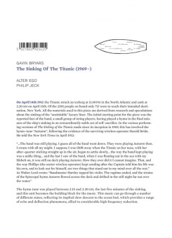 Gavin Bryars | Philip Jeck | Alter Ego - The Sinking of the Titanic